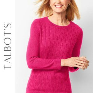 TALBOT'S Petites Cable Knit Sweater, L, NWT!